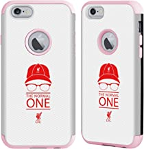 Head Case Designs Officially Licensed Liverpool Football Club Icon White Mesh Klopp Icons Light Pink Guardian Case Compatible with Apple iPhone 6 / iPhone 6s