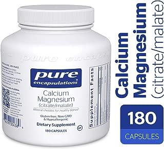 Pure Encapsulations - Calcium Magnesium (Citrate/Malate) - Hypoallergenic Calcium Supplement with Magnesium - 180 Capsules