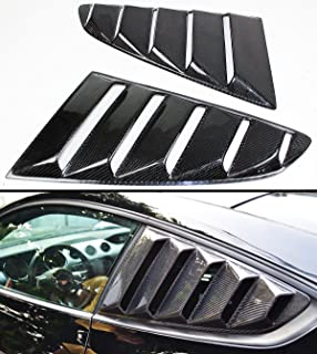 Cuztom Tuning Fits for 2015-2019 Ford Mustang GT S550 Carbon Fiber Side Vent Window Quarter Scoop Louver Covers Pair