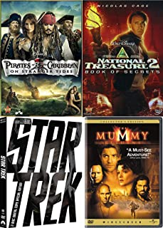 Secrets of Adventure Stranger Pack Tides in the Caribbean with Pirates and Monsters The Mummy Returns (Collector's Edition) National Treasure Book 2 + Star Trek DVD Must-See