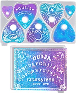 Ouija Board Resin Mould and Planchette Silicone Mould for Resin, 2PCS Gothic Epoxy Silicone Mould for Crafts Jewelry Makin...