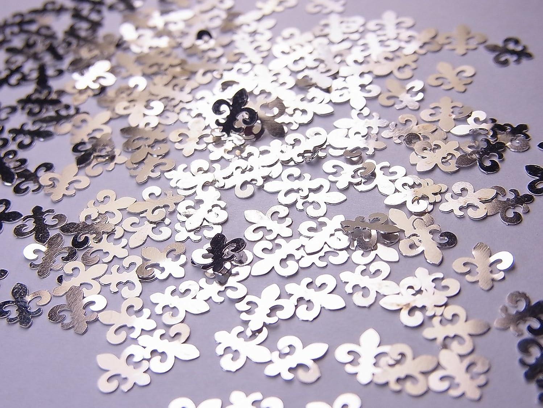 南極統合減る【jewel】薄型シルバーレジンパーツ ユリの紋章10個