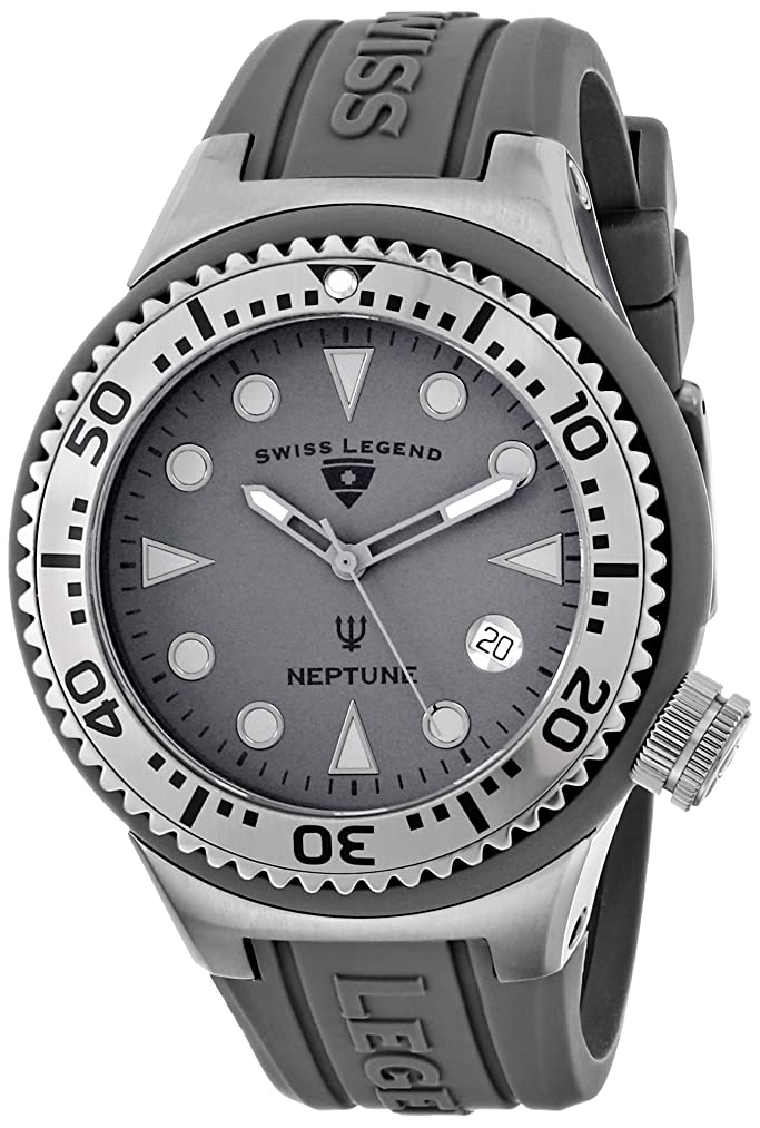 Swiss Legend Unisex 11044D-PHT-14 Neptune Analog Display Swiss Quartz Grey Watch