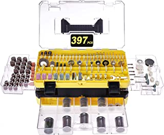 Rotary Tool Accessories Kit, Longmate 397 pcs Electric Rotary Accessory Set for Easy Drilling, Cutting, Grinding, Sanding,...