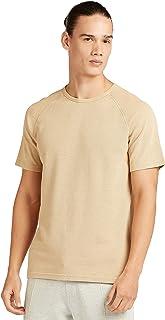 Iconic Men's 2300369 WASHED PIQUE Cotton T-Shirt, Beige