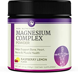 Nobi Nutrition High Absorption Magnesium Powder - Premium Magnesium for Sleep, Leg Cramps, Muscle Relaxation & Recovery fo...