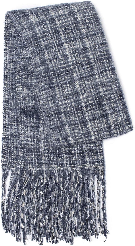 M Retail Women's Fall Winter Long Fringed Plaid Shawl Warm Scarf Warm Tartan Wrap Shawl Blanket