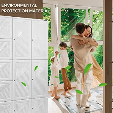 TIKBABA armoire Wardrobe Closet,Baby Closet for Hanging Clothes in Bedroom,Portable Foldable Storage for Locker Room,Odorless