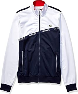 Mens Sport Long Sleeve Lacoste Word Tape Tricot Jacket