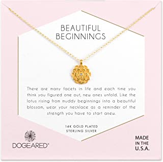 Dogeared Womens Gold Beautiful Beginnings Chain Necklace, 16