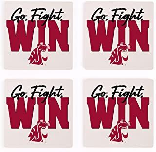 Go Fight Win Washington State University 4 x 4 Ceramic Coasters Pack of 4