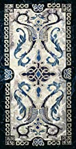 Celtic Design I   Woven Tapestry Wall Art Hanging   Irish Tribal Symbolic Knots   100% Cotton USA Size 53x25