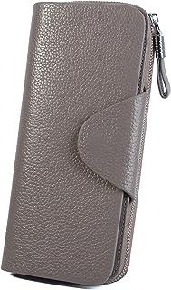[ヤラックス]Yaluxe レディース 本革 RFID ブロッキング カードケース ビジネス 通勤 二つ折り 長財布