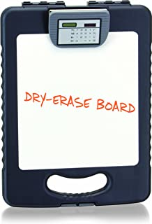 Officemate OIC Deluxe Letter/A4 Size Tablet Clipboard Case with Calculator and Dry-Erase Board, Charcoal (83317)