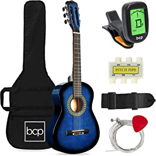 Best Best Choice Products 30in Kids Acoustic Guitar Beginner Starter Kit with Electric Tuner, Strap, Case, Strings - Blueburst Review
