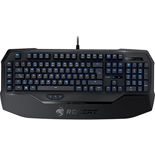 Roccat Ryos MK Pro Mechanical Gaming Clavier avec Per-key Illumination (FR-Layout, EinzelEclairage des Touches, Touches Mécaniques, MX Blue Switch)