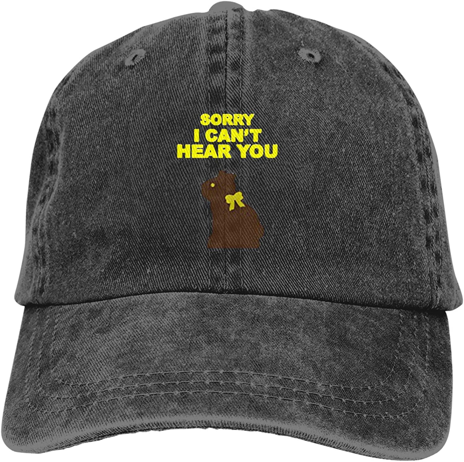 WAYMAY Sorry I Can't Hear You Unisex Adjustable Cowboy Hat Adult Cotton Baseball Cap