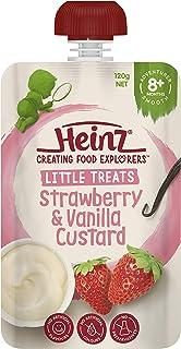 Heinz Strawberry and Vanilla Custard Pouch, 120g