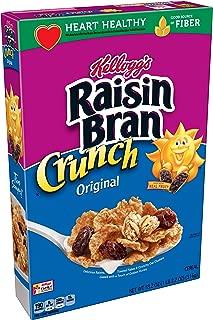 Kellogg's Raisin Bran Crunch, Breakfast Cereal, Original, Good Source of Fiber, 18.2 oz Box(Pack of 4)