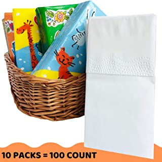 Pocket Facial Tissue - White Premium 3 Ply Paper Wallet Tissues - Travel Size Go Pack - 100 Count (10 Packs)