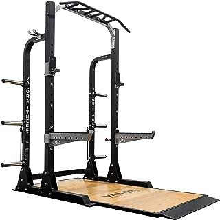 Valor Fitness BD-58 Half Rack w/Plate Storage, Multi-Grip Pull Up Station, Bar Storage, Plus Bundle Option to add Weightlifting Platform (1000 lb. Capacity)