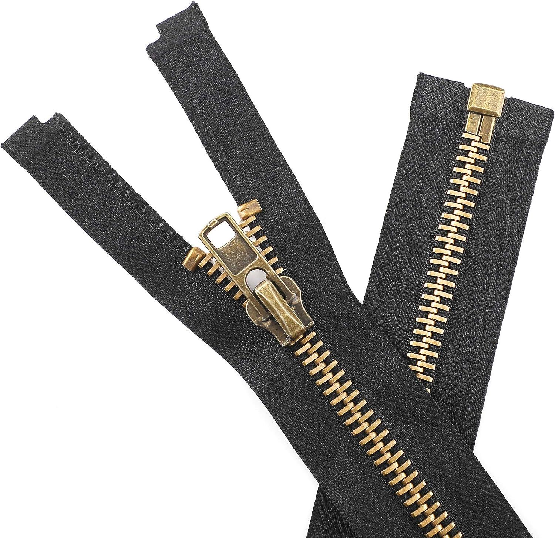 KVLUAY #8 36 Inch Antique Jacket Columbus Mall Y-Teeth 5 popular Brass Zipper Separating