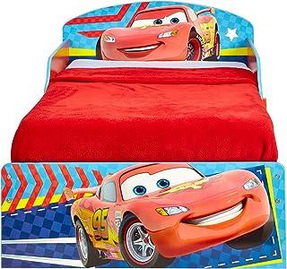 Cars Infantil con Espacio de Almacenamiento Debajo de la Cama, Madera, Azul y Rojo, 59.00x142.00x77.00 cm