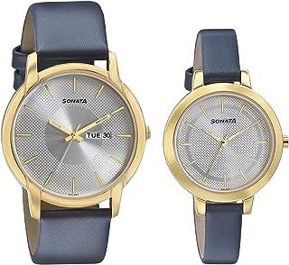 Sonata Pairs Analog Silver Dial unisex Watch 770318141YL02/NN770318141YL02