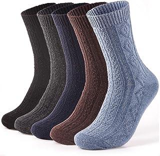5 pares de calcetines de lana gruesos y cálidos para hombre