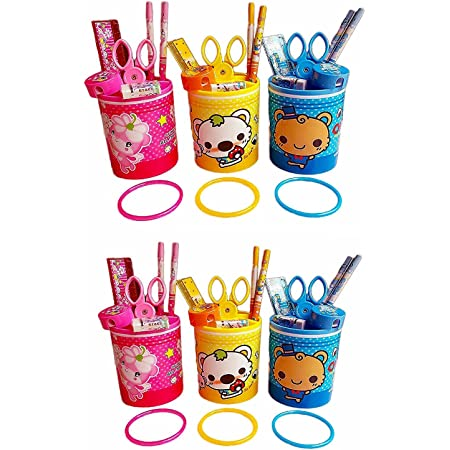 Jiada Return Gifts for Kids Birthday Party in Bulk Stationery Set of 6 Pcs - (oki toki 6)