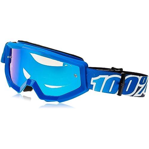 d3225aebd7f9 100% Strata Goggles Anti Fog Mirror Lens blue 2017 cycling goggle