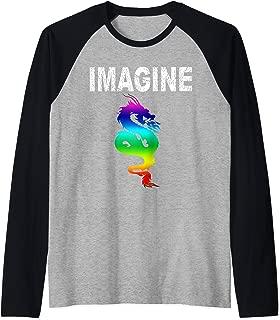 IMAGINE Fantasy Dragon Style t-shirt Great For Gift  Raglan Baseball Tee