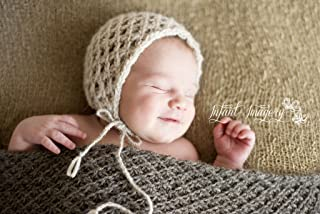 Textured Bonnet and Prop Blanket/Wrap Knitting Pattern - All Sizes Newborn through 1-3 Years Included