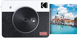 Kodak Mini Shot 3 Retro Camera - Portable Instant Camera and Photo Printer – 2-in-1 Printer Compatible with iOS & Android – Bluetooth Connection – 3x3-inch Real Photo Printer - 4PASS Technology -White