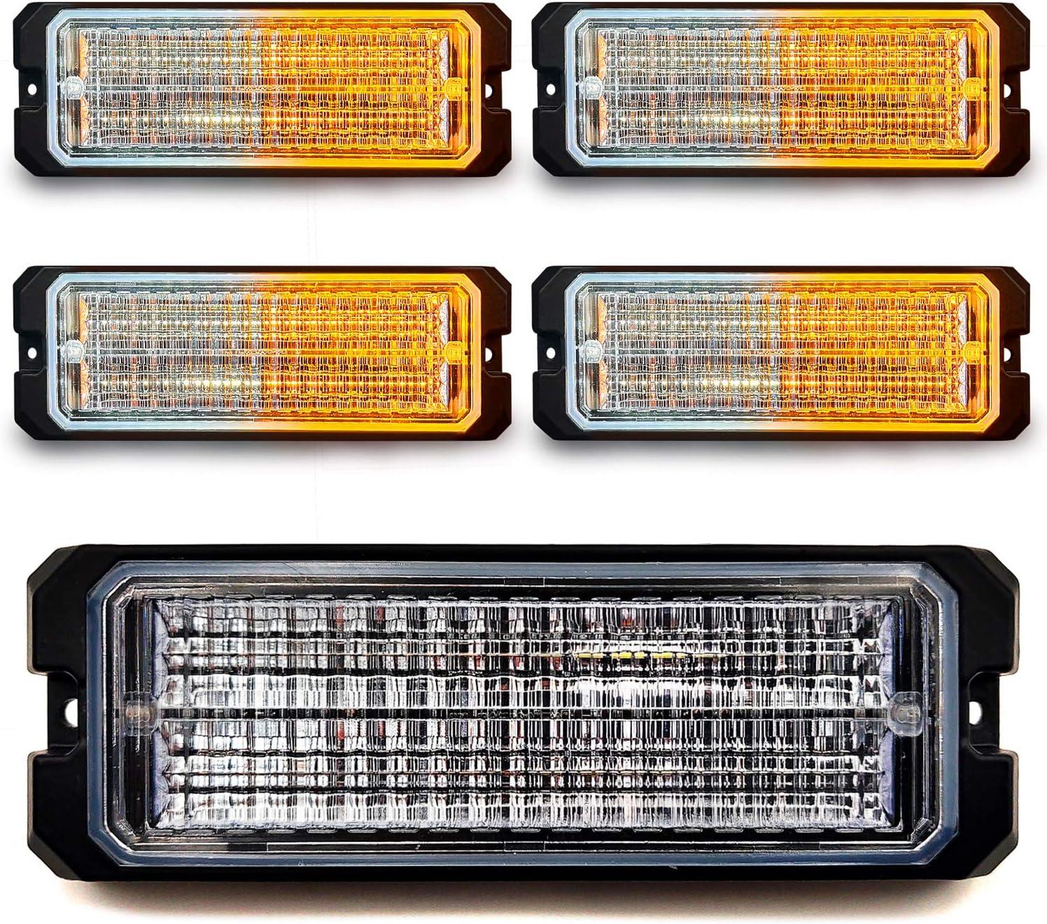 32LED Emergency Strobe Lights 12-24V M Universal Surface Long Beach Mall Manufacturer OFFicial shop 4-Pack