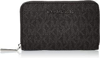Michael Kors Womens Sm Za Card Case Handbag, Black - 32F9SJ6D0B