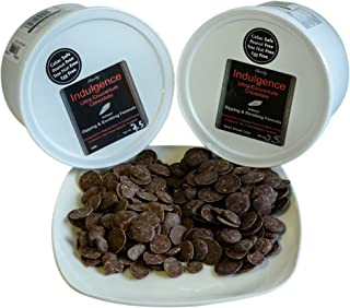 Chocoley Couverture Chocolate 2.5 lb ASSORTMENT - 2 Flavors - Indulgence Ultra Couverture Chocolate for Dipping and Enrobing - 2.5 lbs of Each Flavor - Semi Sweet Dark & Milk