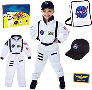 Born Toys Premium Deluxe Astronaut Costume for Kids Ages 4-8 with NASA Bag and Hat