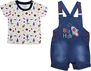 Hatoys Summer Baby Boys Girls Coconut Print T-Shirt Outfits Button-Down Shirt Hawaiian Tops