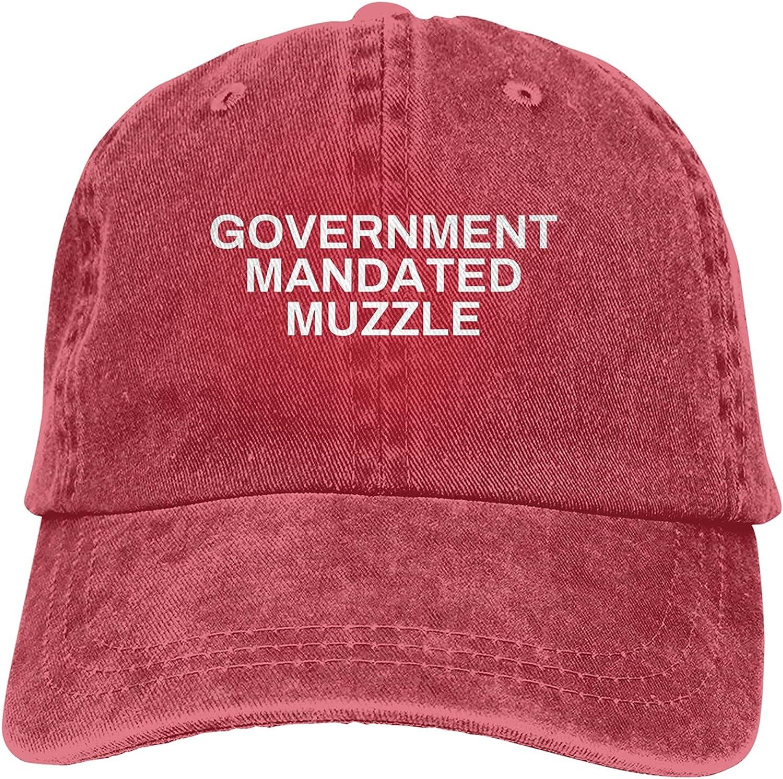 BGWORZD Government Mandated Muzzle Hat Adjustable Washed Unisex Dad Hat Cowboy Cap Denim Cap Baseball Cap
