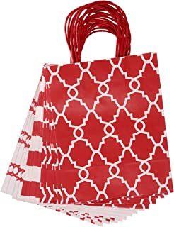 Darice 30071327 Medium Gift Bag: Red Print, 8 x 10 inches, 13 Pieces, Assorted