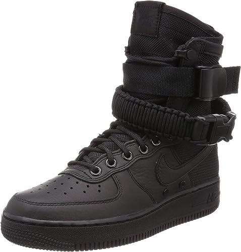 Nike Damen SF Air Force 1 SchwarzLeder Stiefel