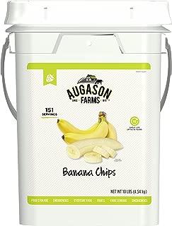 Augason Farms Banana Chips Certified Gluten Free Emergency Bulk Food Storage 4 Gallon Pail 151 Servings
