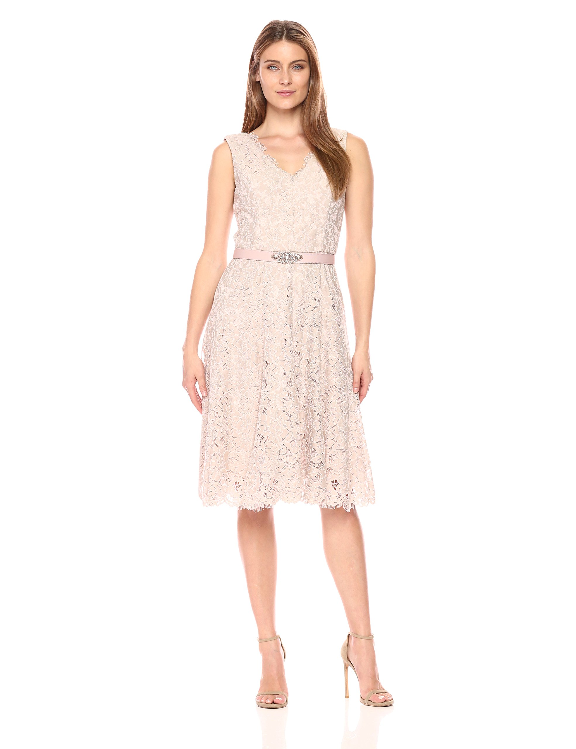 Available at Amazon: Jessica Howard Women's Sleeveless V-Neck Dress Seamed