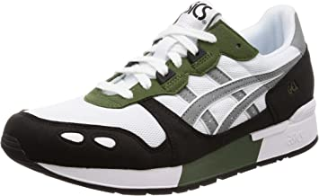 ASICS Unisex Adults' Gel-Lyte Low-Top Sneakers, (White/Stone Grey 101) 8.5 UK (1193A102-101_101)