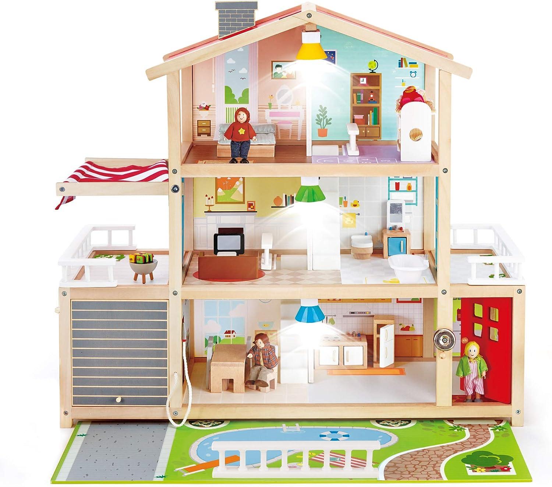 Hape Doll Family Mansion| Award Winning 10 Bedroom House, Multicolor
