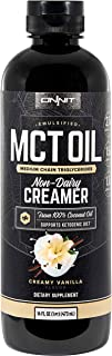 Onnit Emulsified MCT Oil | Keto Creamer - Mixes Easily into Keto Shakes and Foods | Vanilla Flavor 16 Oz.