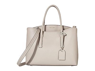 Kate Spade New York Margaux Large Satchel (True Taupe) Satchel Handbags