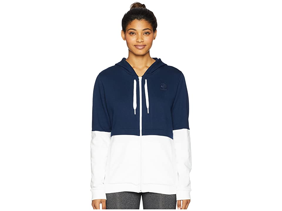 Reebok Classics French Terry Full Zip Hoodie (Collegiate Navy) Women
