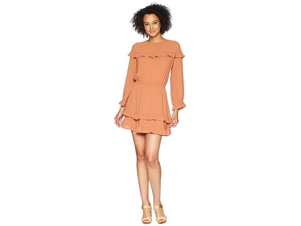 Rachel Pally Crepe Maeve Dress (Terra Cotta) Women
